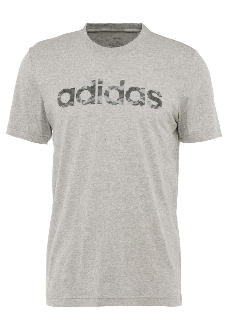 adidas Performance - CAMO LIN - T-shirt con stampa - grey