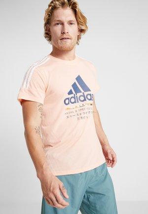 Print T-shirt - glow pink