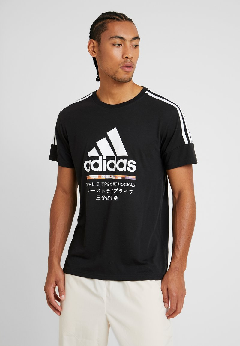 adidas Performance - Camiseta estampada - black