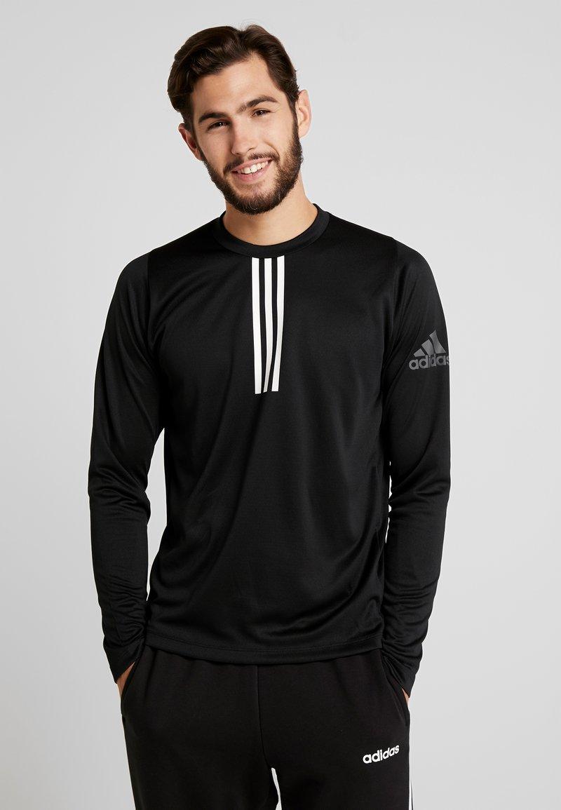 adidas Performance - WARM CREW - Sportshirt - black