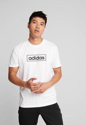BOX  - Print T-shirt - white/black