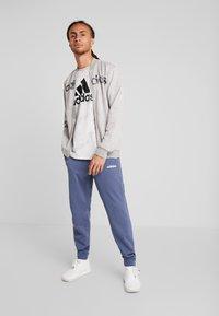 adidas Performance - CAMO LIN - Zip-up hoodie - grey/black - 1