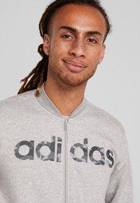 adidas Performance - CAMO LIN - Zip-up hoodie - grey/black - 3