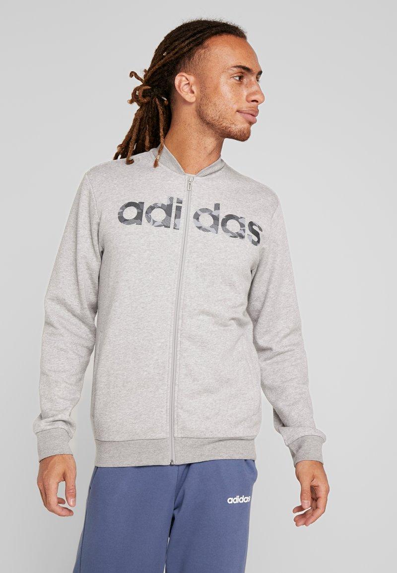 adidas Performance - CAMO LIN - Zip-up hoodie - grey/black
