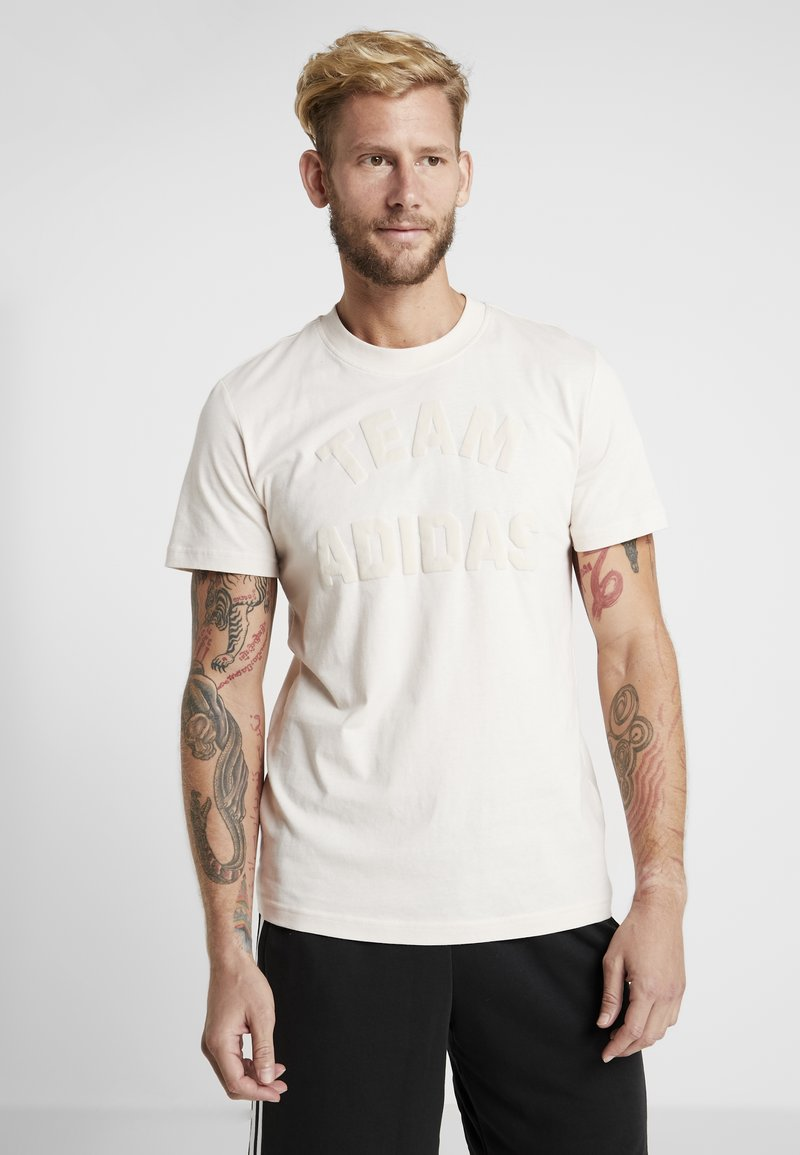 adidas Performance - VRCT T-SHIRT - T-shirt print - linen
