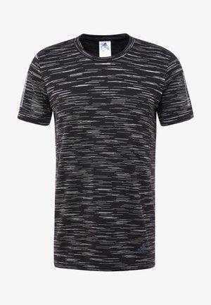 TEE CODE - T-shirt med print - black/white