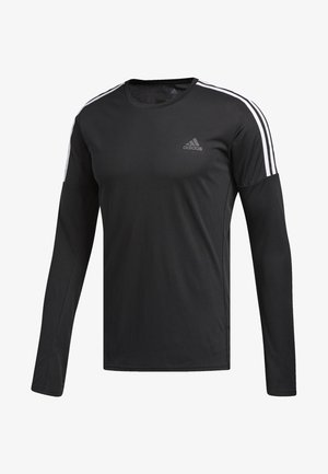 RUNNING 3-STRIPES LONG-SLEEVE TOP - T-shirt à manches longues - black