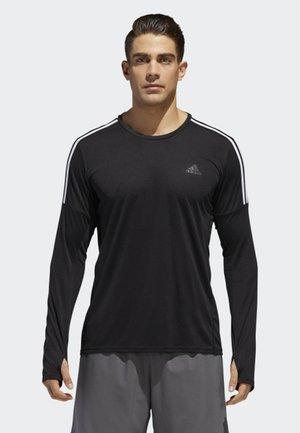 RUNNING 3-STRIPES LONG-SLEEVE TOP - T-shirt à manches longues - black