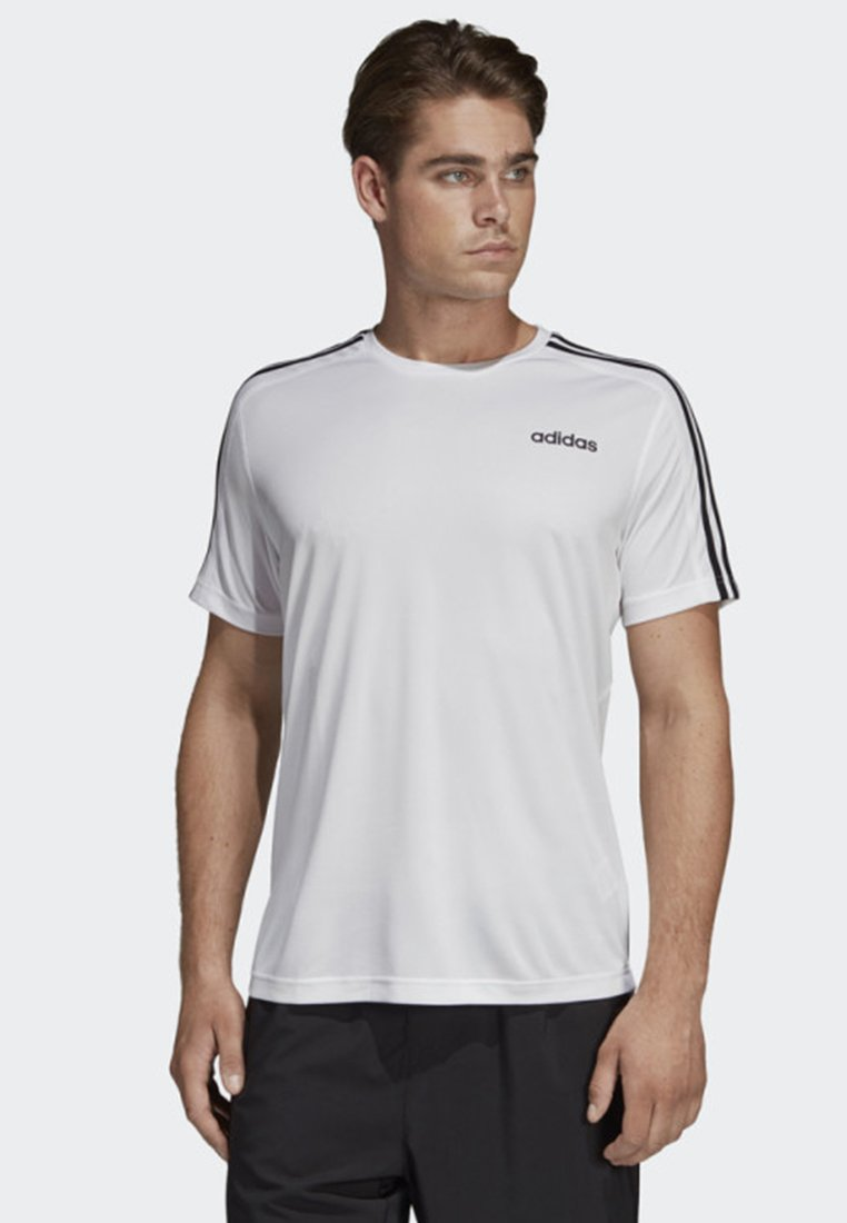adidas Performance - DESIGN 2 MOVE 3-STRIPES T-SHIRT - Print T-shirt - white