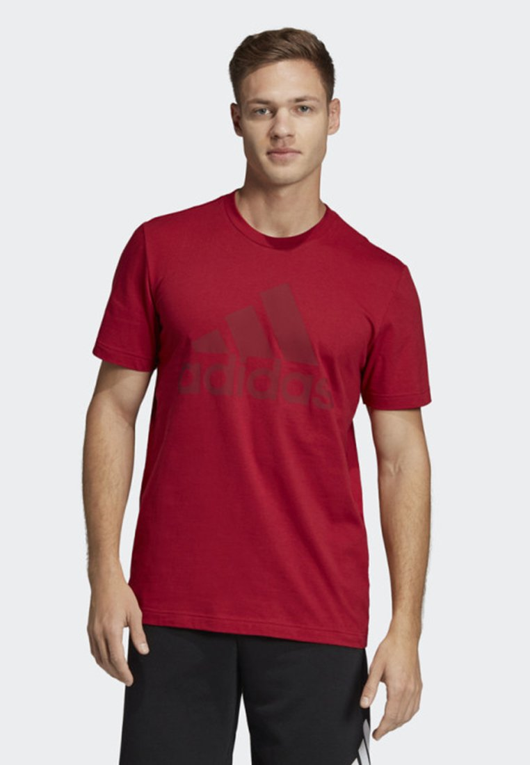 adidas Performance - MUST HAVES BADGE OF SPORT T-SHIRT - Sports shirt - red