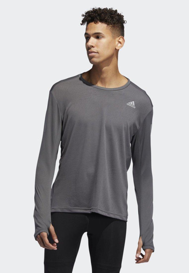 adidas Performance - OWN THE RUN LONG-SLEEVE TOP - Langarmshirt - grey