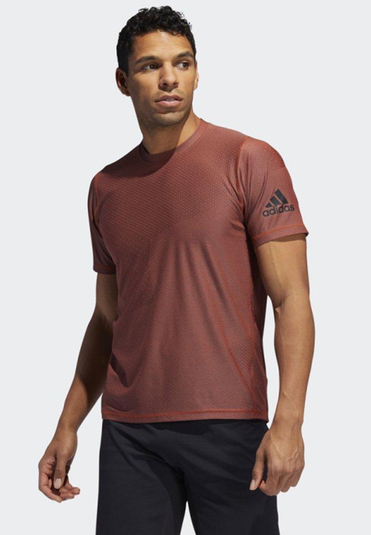 adidas Performance - FREELIFT T-SHIRT - T-shirt con stampa - orange