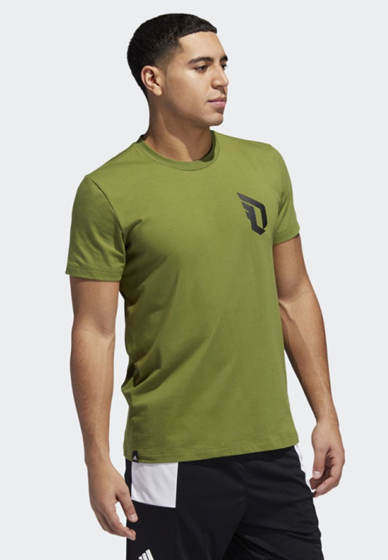 adidas Performance - DAME VERB T-SHIRT - Print T-shirt - green