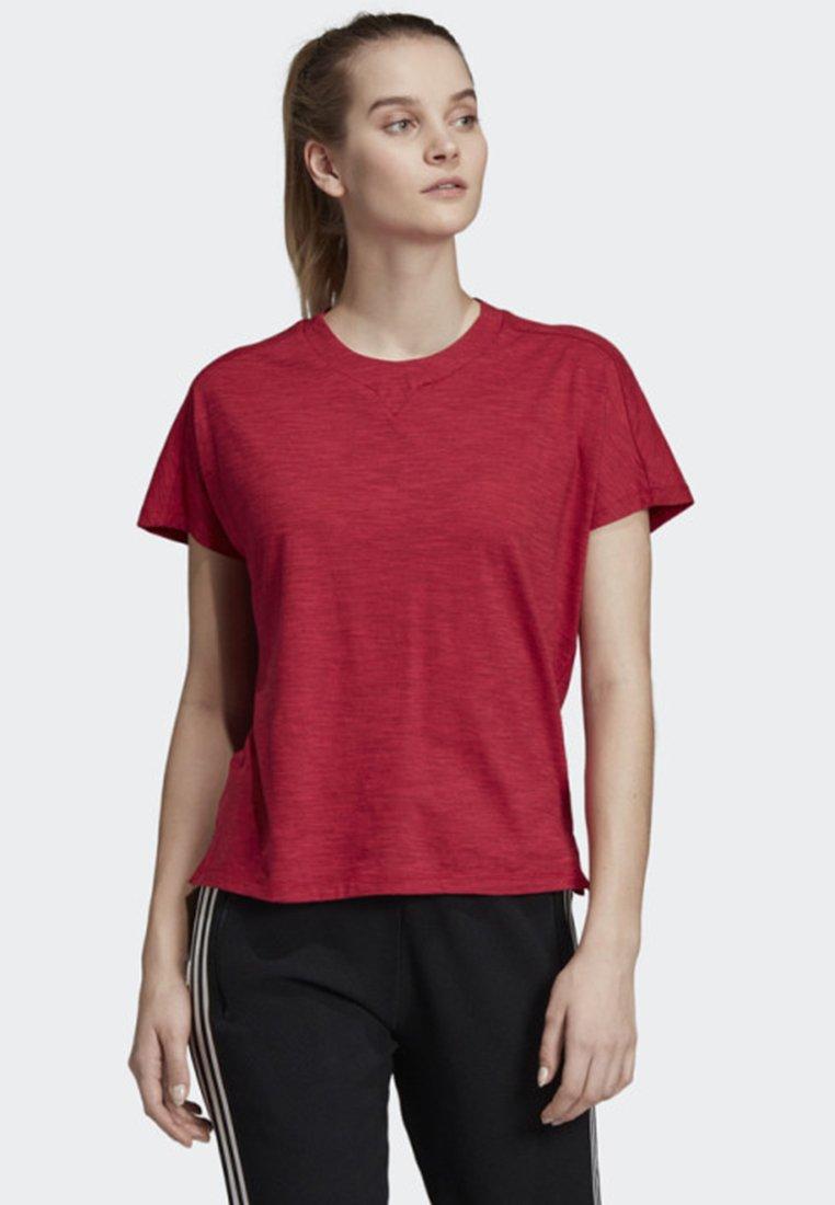 adidas Performance - ID WINNERS ATT-SHIRTTUDE T-SHIRT - T-shirts med print - red