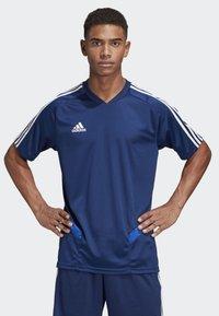 adidas Performance - TIRO 19 TRAINING JERSEY - T-shirt print - blue - 0
