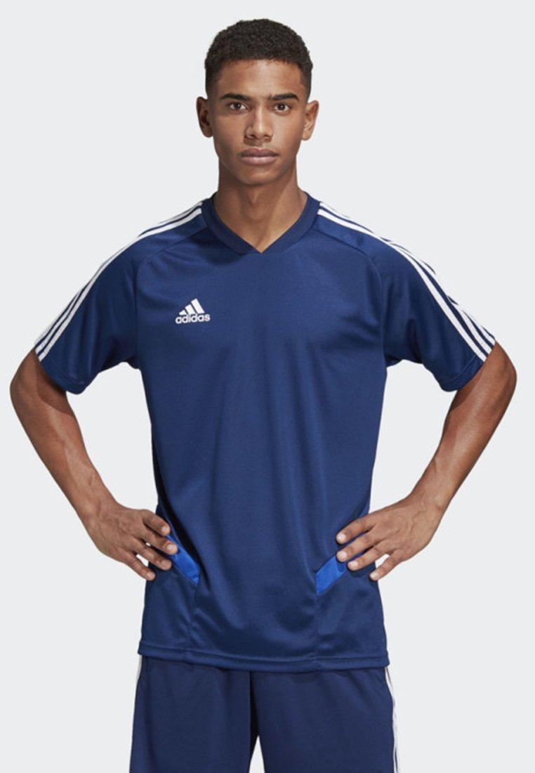 adidas Performance - TIRO 19 TRAINING JERSEY - T-shirt print - blue
