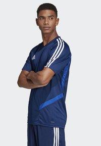 adidas Performance - TIRO 19 TRAINING JERSEY - T-shirt print - blue - 4