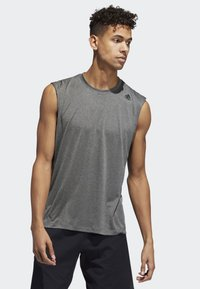 adidas Performance - FREELIFT TECH CLIMACOOL 3-STRIPES TANK TOP - Toppi - grey - 0