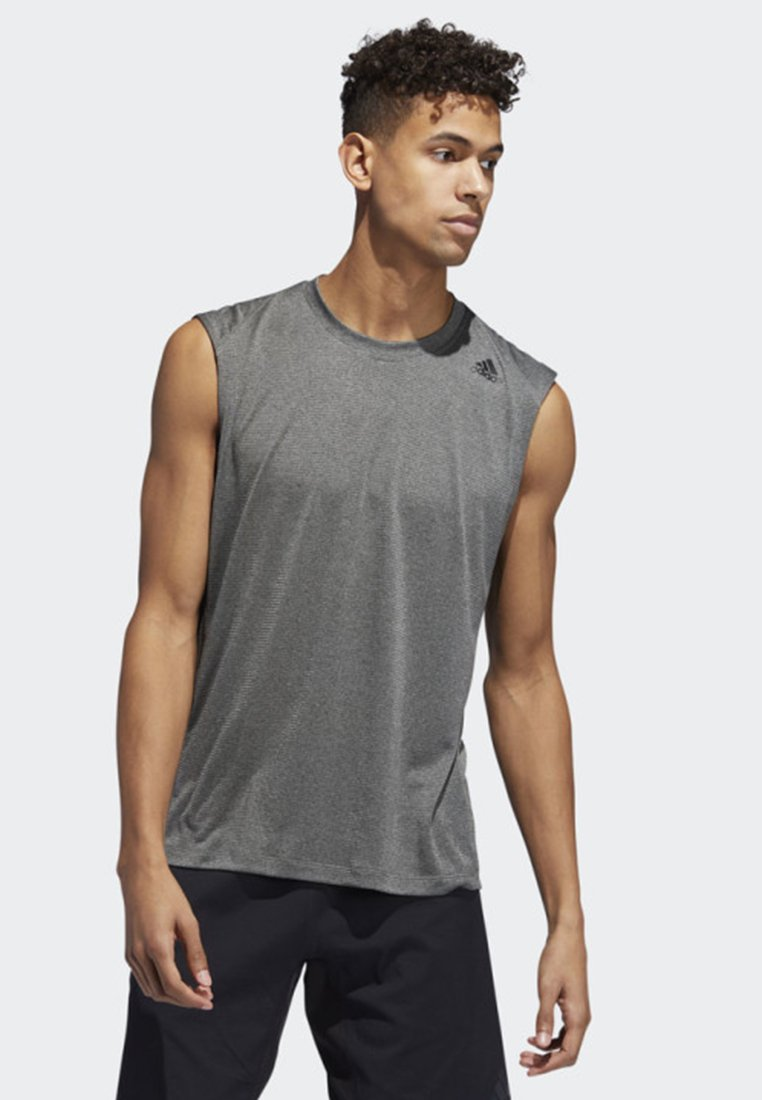 adidas Performance - FREELIFT TECH CLIMACOOL 3-STRIPES TANK TOP - Toppi - grey