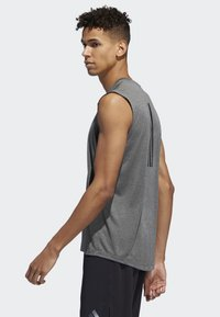 adidas Performance - FREELIFT TECH CLIMACOOL 3-STRIPES TANK TOP - Toppi - grey - 3