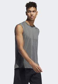 adidas Performance - FREELIFT TECH CLIMACOOL 3-STRIPES TANK TOP - Toppi - grey - 2