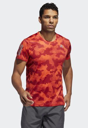 OWN THE RUN URBAN CAMO T-SHIRT - T-shirt med print - orange