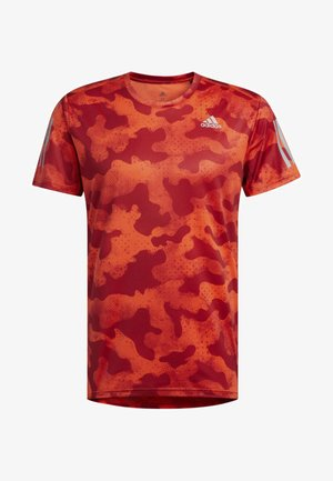 OWN THE RUN URBAN CAMO T-SHIRT - T-shirts med print - orange