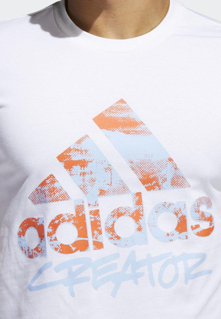 Same Graphic Performance Not Logo shirtImprimé Adidas White T 6ybf7g