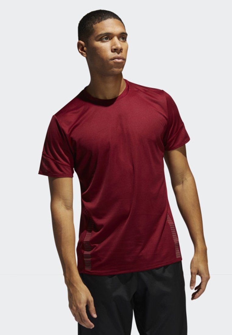 adidas Performance - 25/7 RISE UP N RUN PARLEY T-SHIRT - Funktionströja - red