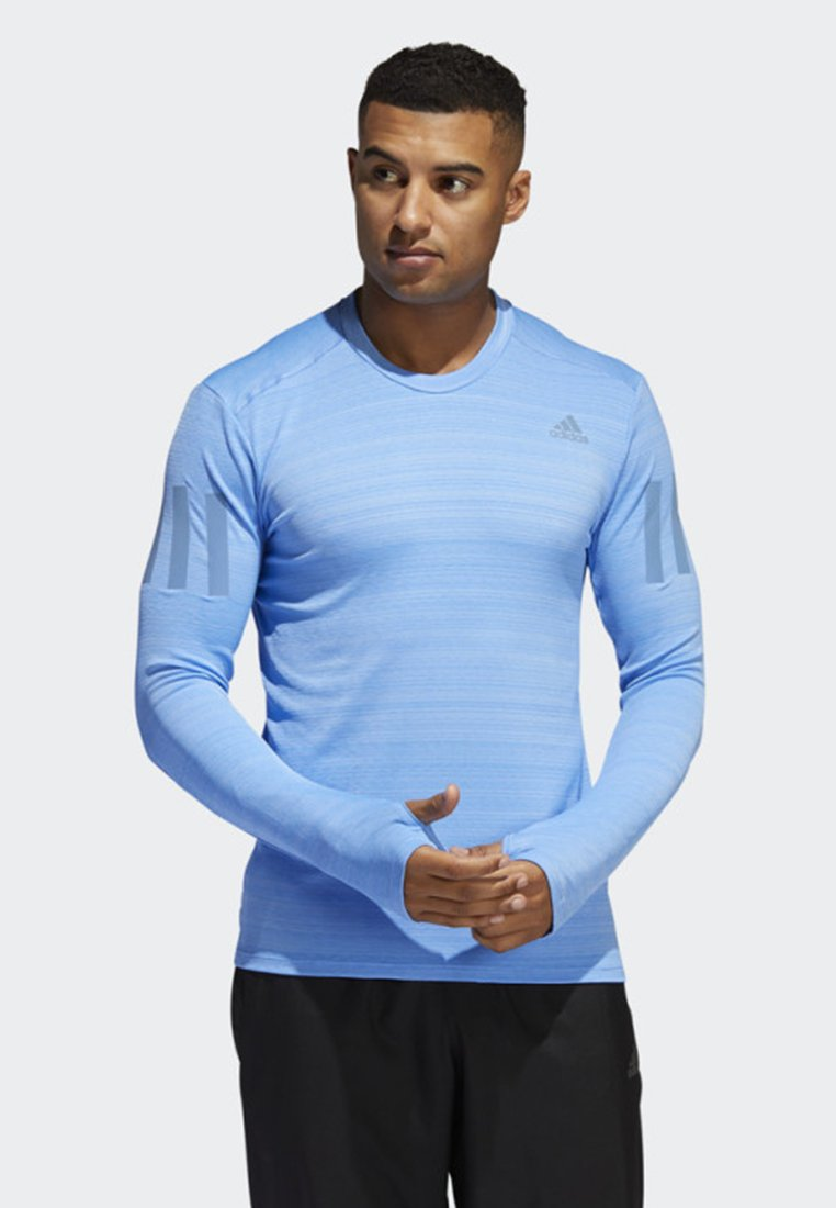 adidas Performance - RISE UP N RUN LONG-SLEEVE TOP - Langarmshirt - blue