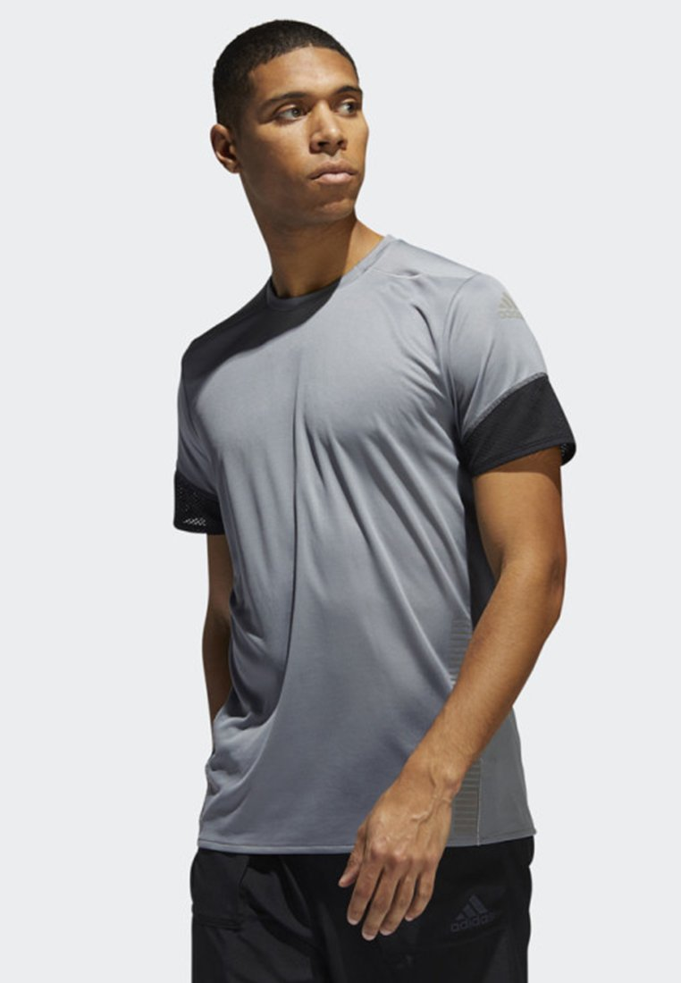 adidas Performance - 25/7 RISE UP N RUN PARLEY T-SHIRT - Print T-shirt - grey
