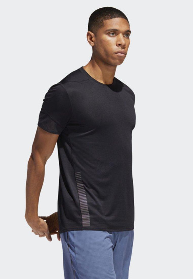adidas Performance 25/7 RISE UP N RUN PARLEY T-SHIRT - T-shirt imprimé black