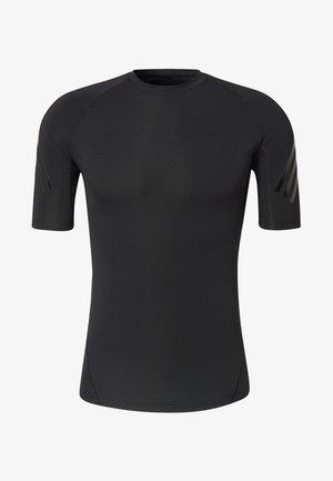 ALPHASKIN TECH 3-STRIPES T-SHIRT - T-shirts med print - black