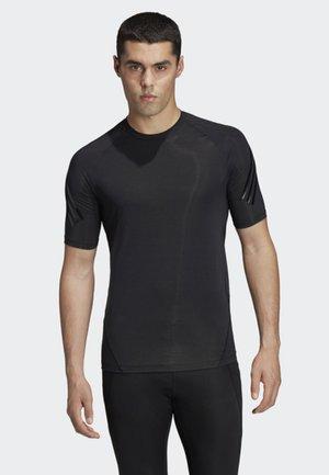 ALPHASKIN TECH 3-STRIPES T-SHIRT - Print T-shirt - black