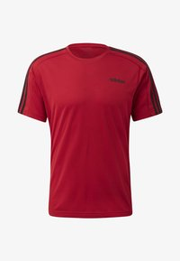 adidas Performance - DESIGN 2 MOVE 3-STRIPES T-SHIRT - Print T-shirt - red - 7
