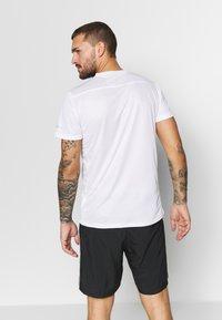 adidas Performance - OWN THE RUN TEE - T-shirts med print - white/black - 2