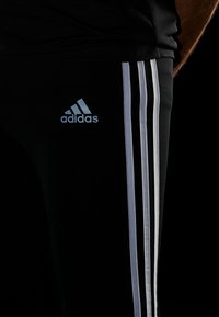 adidas Performance - OWN THE RUN TEE - T-shirt print - black/white - 3
