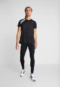 adidas Performance - OWN THE RUN TEE - T-shirt print - black/white - 1