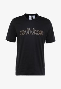 adidas Performance - ESSENTIALS SEASONAL SHORT SLEEVE TEE - Print T-shirt - black - 3