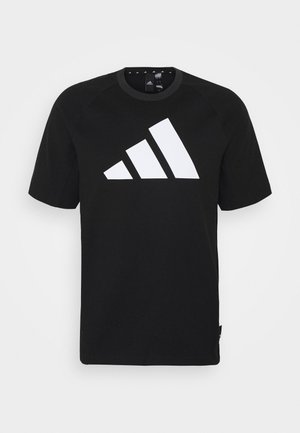 MUST HAVE ATHLETICS SHORT SLEEVE TEE - T-shirts med print - black/white