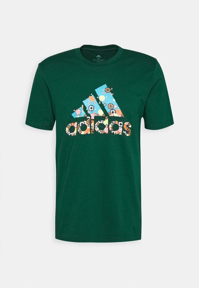 ATHLETICS SPORT SHORT SLEEVE GRAPHIC TEE - T-shirt print - green