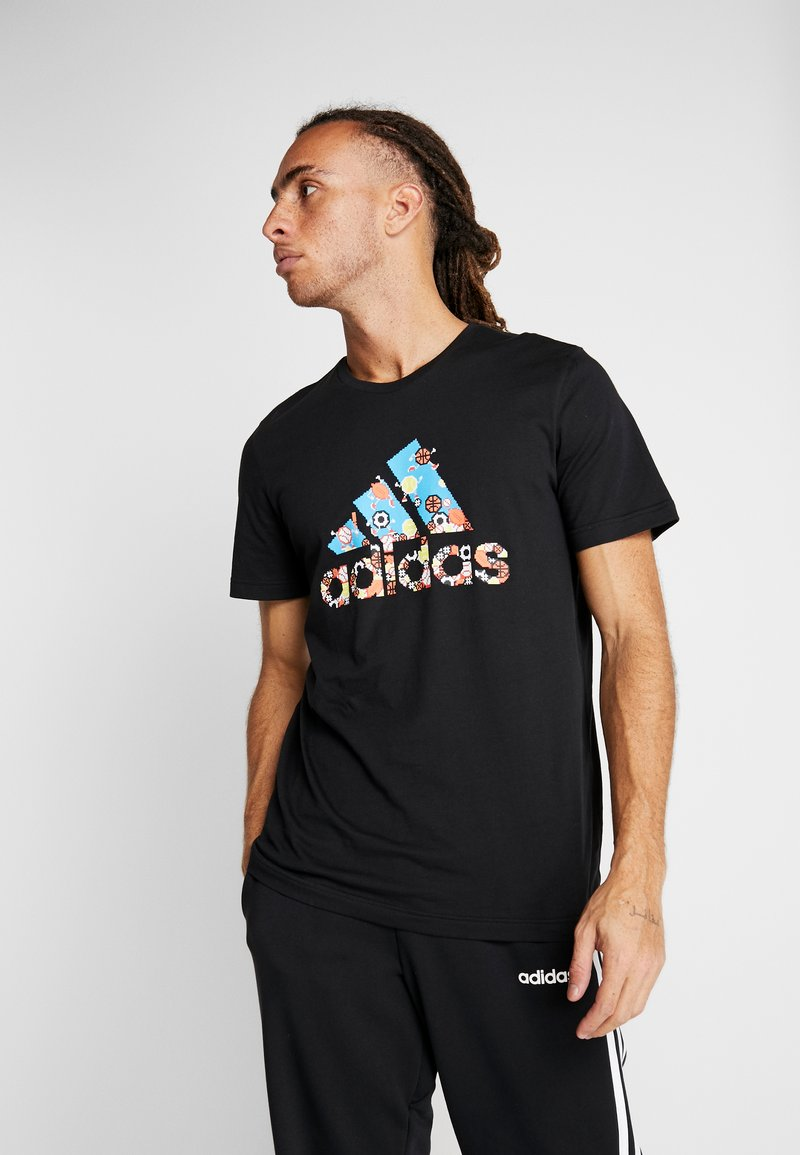 adidas Performance - 8 BIT - T-shirt print - black