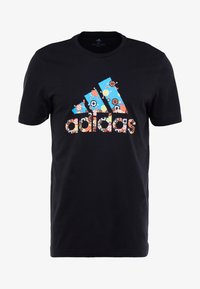 adidas Performance - 8 BIT - T-shirt print - black - 4
