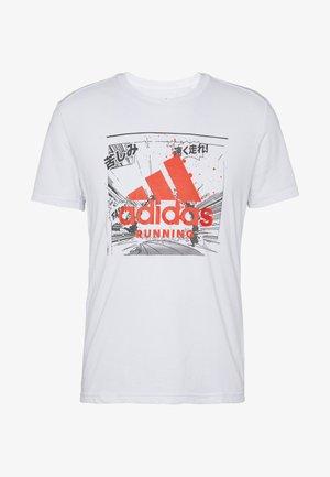 FAST TEE - T-shirt z nadrukiem - white