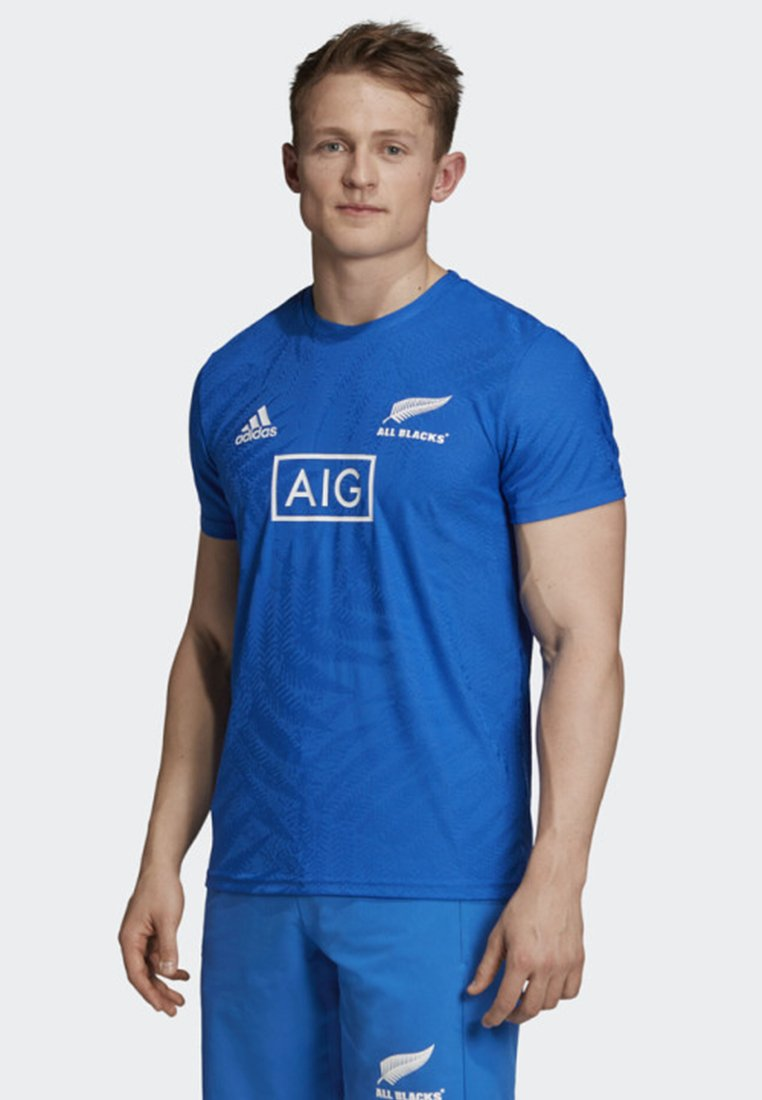 adidas Performance - ALL BLACKS RUGBY WORLD CUP Y-3 PERFORMANCE T-SHIRT - Print T-shirt - blue