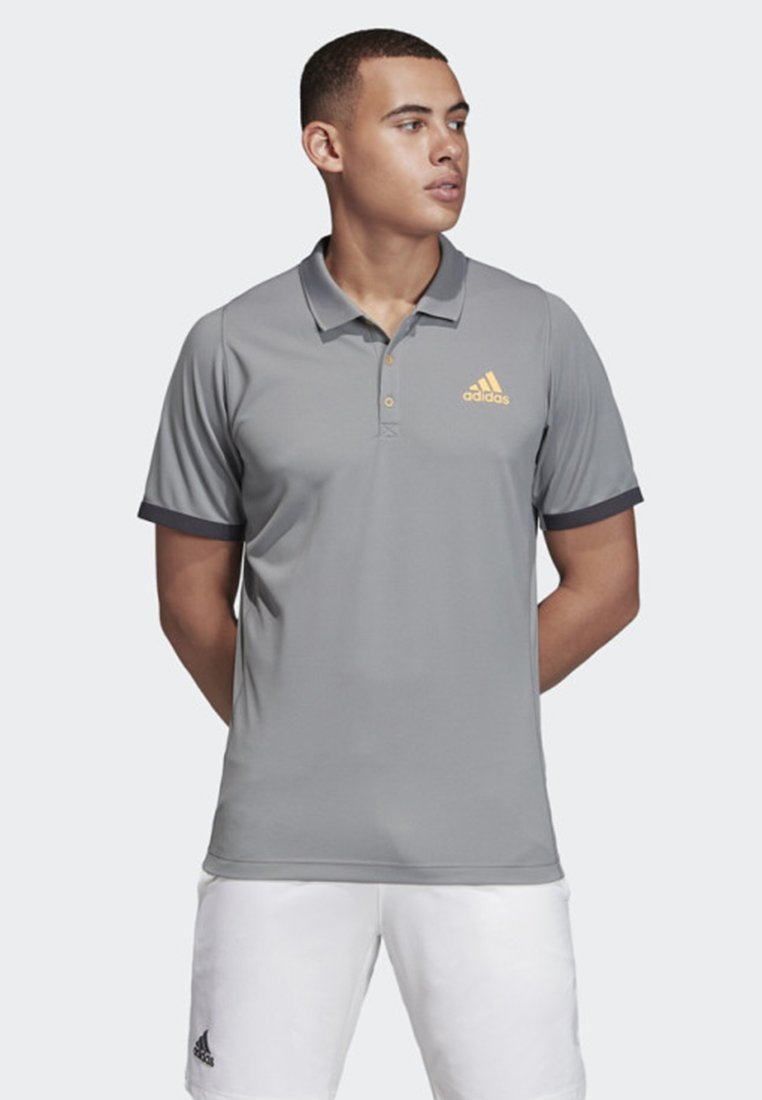 adidas Performance - NEW YORK POLO SHIRT - Polo shirt - grey\orange