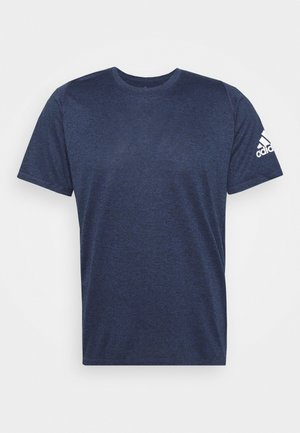 FREELIFT AEROREADY TRAINING SHORT SLEEVE TEE - T-shirt basic - mottled dark blue