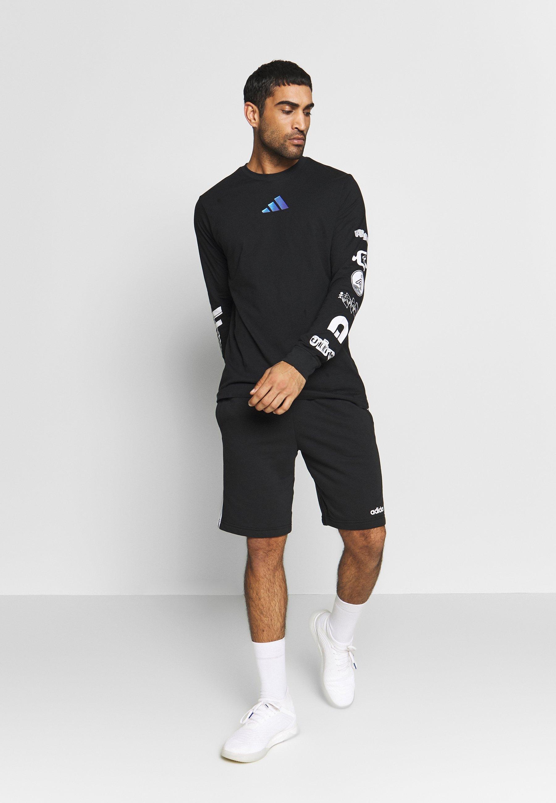 adidas Performance SPACE RACE LONGSLEEVE - Bluzka z długim rękawem - black