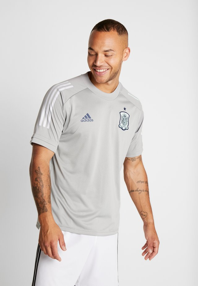 SPAIN FEF TRAINING SHIRT - Camiseta estampada - grey