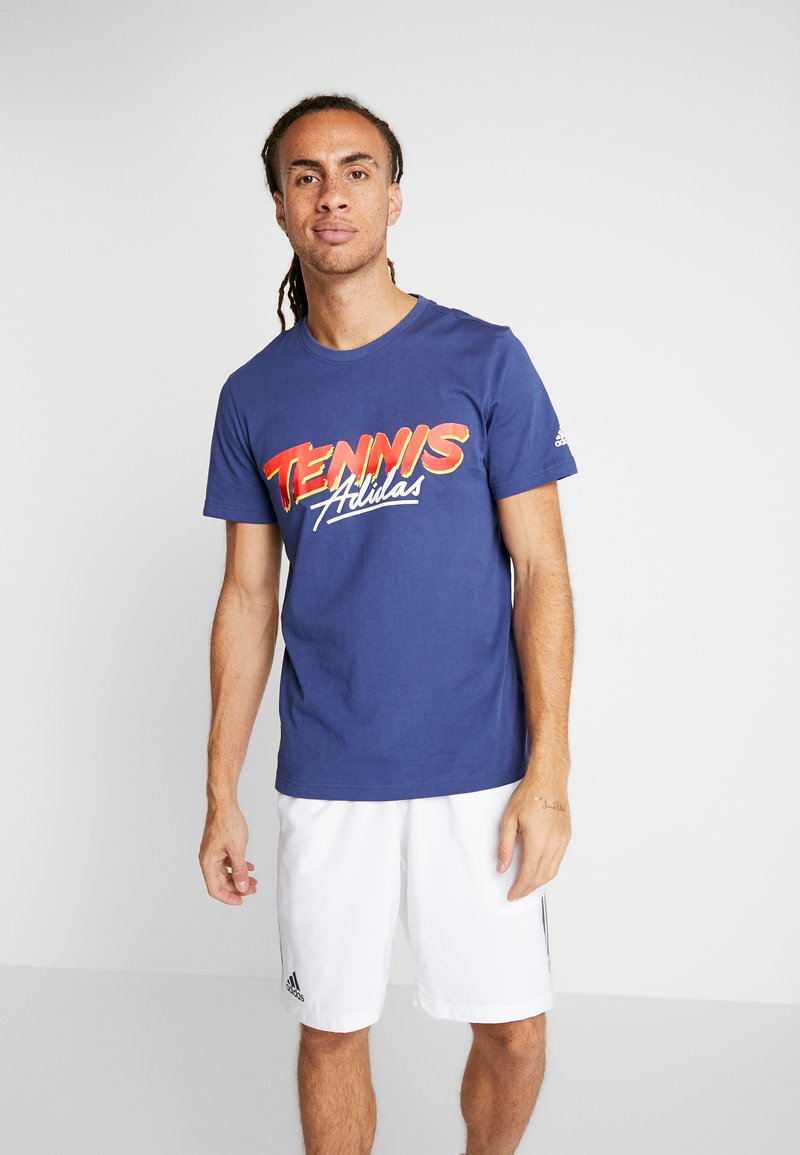 adidas Performance - SCRIPT GRAPH  - T-Shirt print - tech indigo
